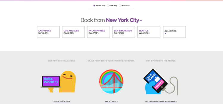 Virgin America reinvents online booking!