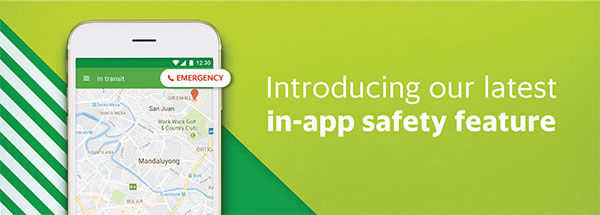 Grab's latest feature: EMERGENCY BUTTON