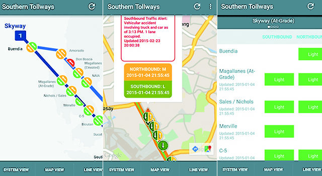 Southern Tollways – Mobile App, Real Time Traffic Stats