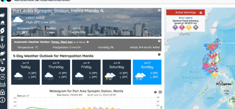 Bagong Pagasa Website – Weather Forecast